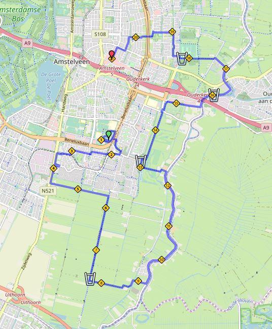 Top Route map - Lentemarathon @BR12
