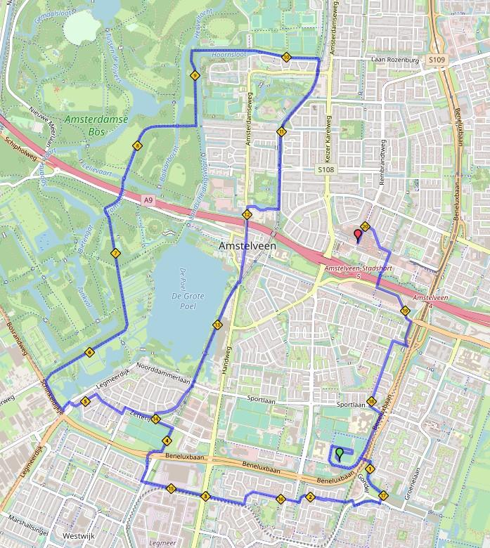 Route Lentemarathon 2020 - halve